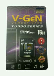 micro sd card memory card vgen 16gb class10 85mb/s + adaptor