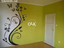 Wall flower hand painted