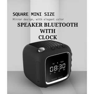 Speaker Bluetooth Robot RB530 LCD Clock