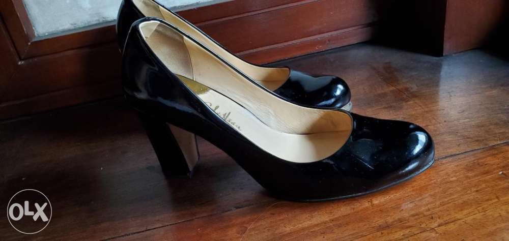7fe8608a7 Cole Haan womens block heel patent nike air pumps black size 9 in ...