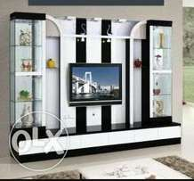 LALBAY entertainment center black and white