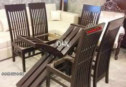 Gracefull Design Dining with 6 chair _khawaja's fix price
