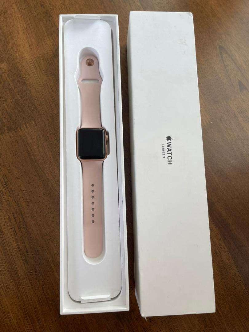 Apple Watch Series 3 Rose Gold 38mm Jam Tangan 815741360