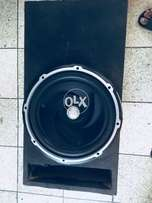 Kenwood woofer with bass tube
