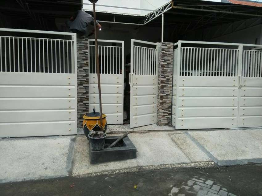 Pagar Minimalis Kombinasi Plat Cantik - Konstruksi Dan Taman - 782217411