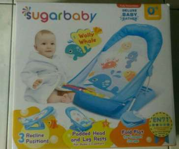 Sugarbaby deluxe baby bathing 0+ month #blue #orange