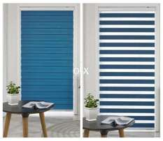 Light colors of roller blind for offices use..