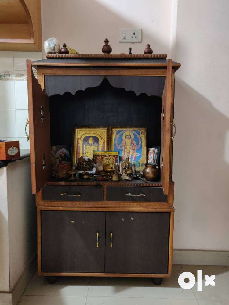 Pooja Cabinet With Rack