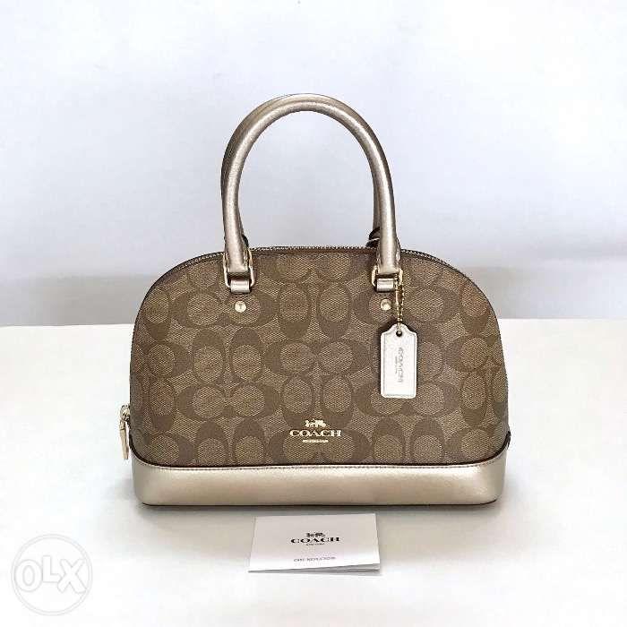 c9427317d1bd AUTHENTIC NEW Coach Mini Sierra Sling Satchel Bag Khaki Platinum in ...