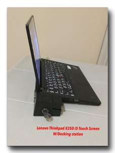 Lenovo Thinkpad X-250 / Touch Screen / Docking Station