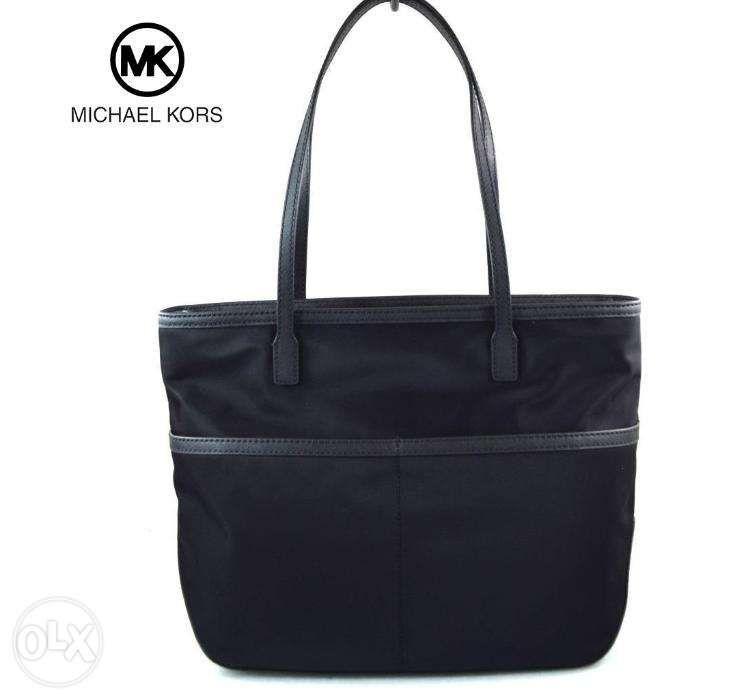 b3b2bc13d8f678 ... SALE Bnwt Authentic Michael Kors Kempton Pocket Black Nylon Tote Bag