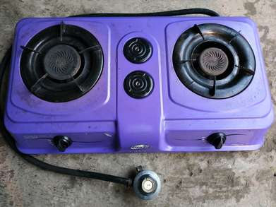 Kompor Gas Way Be 2 Tungku Bonus Selang dan Regulator (Gas Cooker)