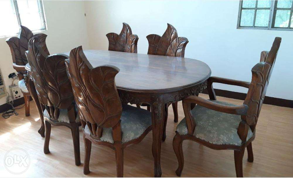 Narra Dining Table With 6 Chairs