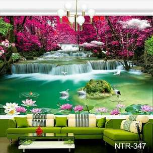 Wallpaper Dinding 3D Air Terjun