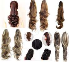 Women Clip in Synthetic Hair Extension PonyTail with Catcher