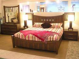 king size bed with side tables brand new