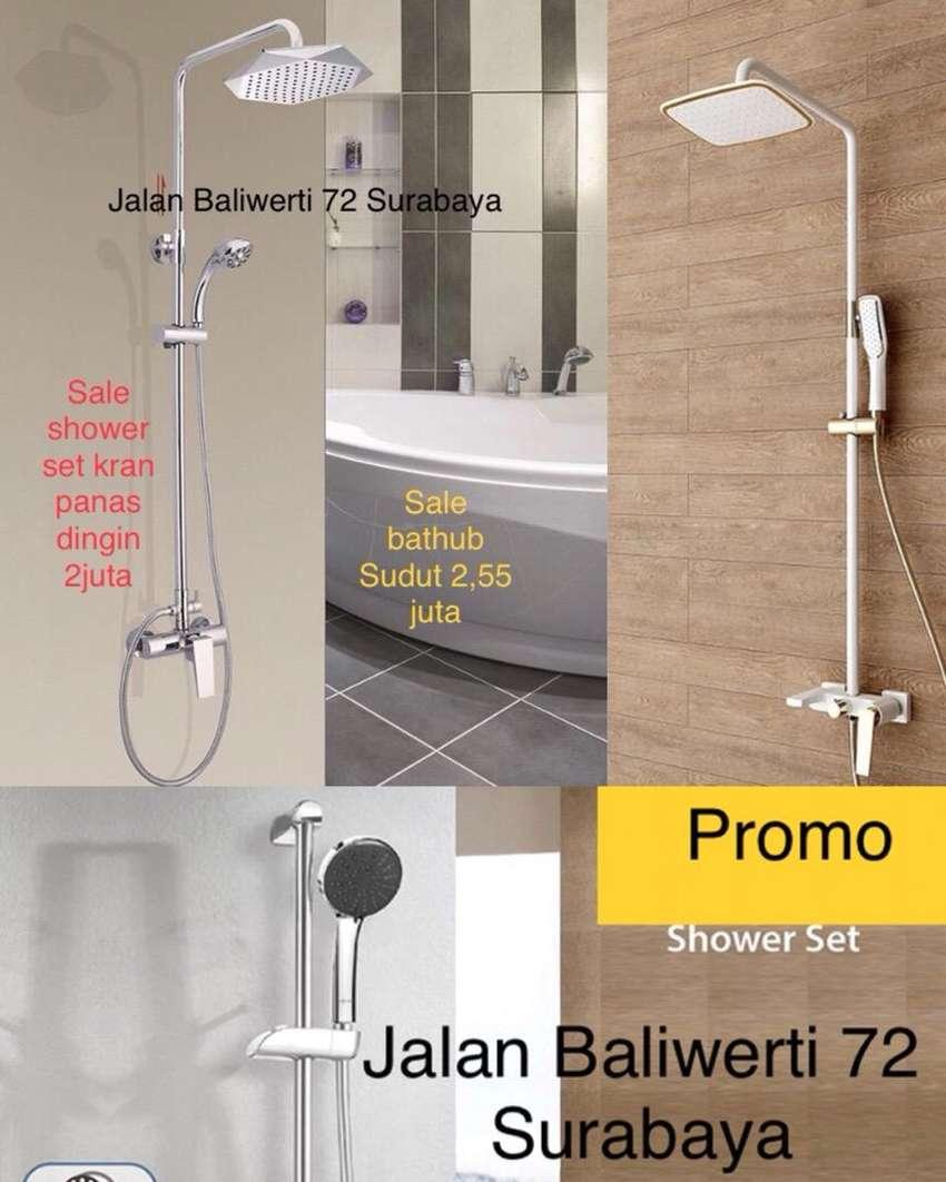 minimalis kran air Shower tiang panas dingin set kamar mandi toilet