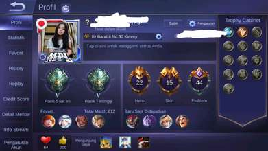 Jual Akun Mobile Legend Epic 5 Android