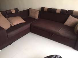 L Shaped Sofa Bed Used Furniture For Sale In Pune Olx