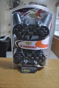 Stik Game Pad Double Dual X Shock 2 Controller USB | By Astikom