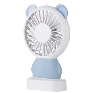 Kipas Angin Portable dengan LED model Bear - Blue