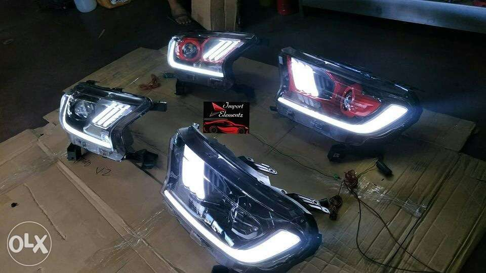 2015 To 2019 Ford Ranger T7 Led Headlight Assembly Mustang Projector