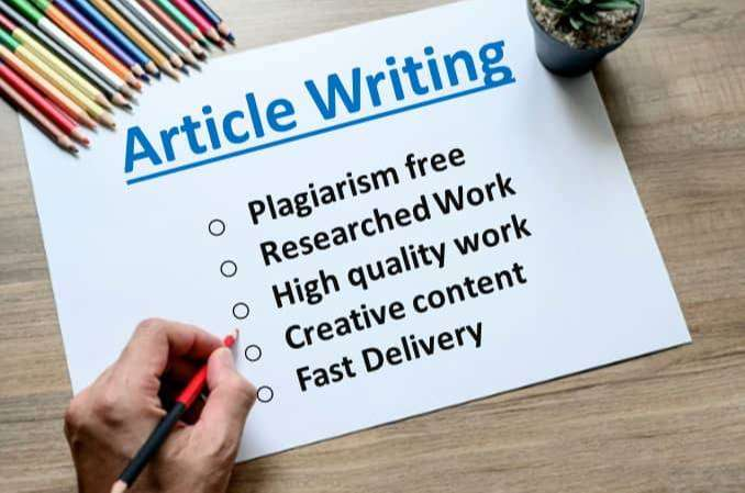 Article Writing - Online - 1023165845