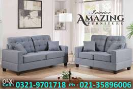 New four seater sofa | imported fabric | shesham legs.