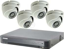 Four CCTV cameras complete installation package