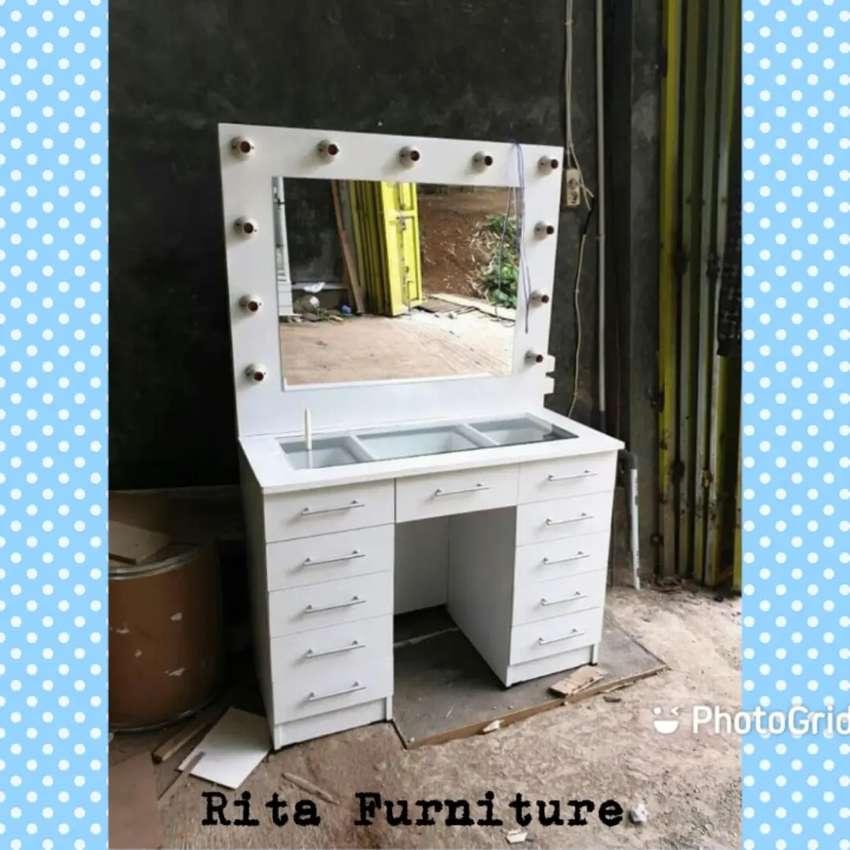 Jual Furniture Meja Rias Minimalis 21 Cod Mebel 806723302