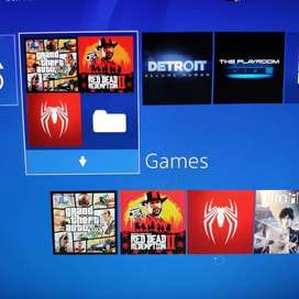 PS4 FAT black full games RDR2 GTA 5 spiderman detroit judgement murah