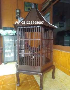 Home industri kerajinan kandang kayu jati untuk ayam
