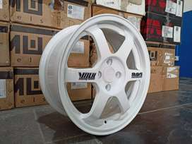Velg racing mobil brio jazz vios dll TE37 ring 16x7 pcd 4x100 et 40