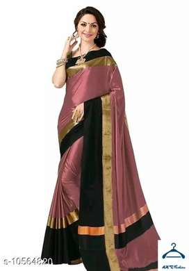 Aagam Voguish Sarees  Saree Fabric: Cotton Pattern