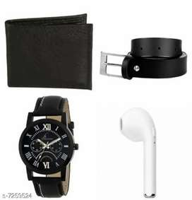 Watch with rechageable earbud , belt,wallet