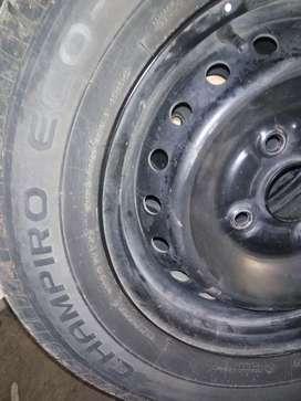 Velg besi+wheel dop ori avanza/xenia,r14/185/70 pcd 114