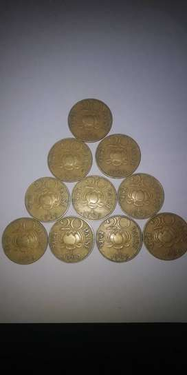 20 paise 1969 cooins set of 10