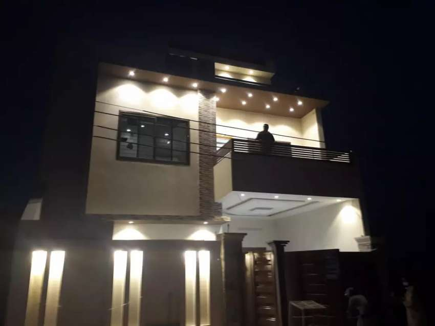 6 marla covered area , brand new modern style house. 0