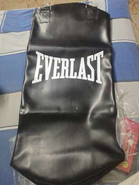 Punching bag with gloves & chain