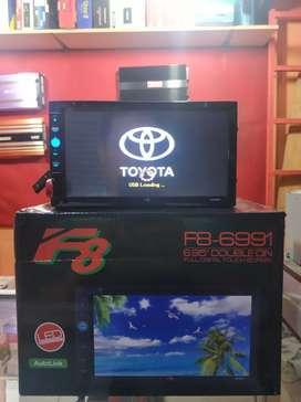 Doubledin F8 FullHD dvd, vcd, usb, Bluetooth, mirolink, dll