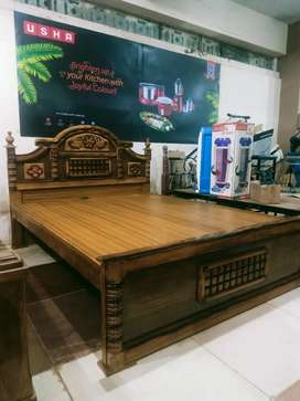 Brand New Teak Wood Cot For Sale With Best Market Price size : 5*6 1/4