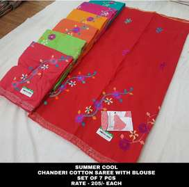 COTTON SILK SAREE AT MOST EFFICIENT PRICE