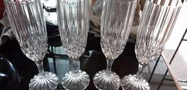 4 Gelas Wine Crystal