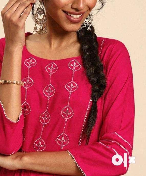 Pink kurta for women