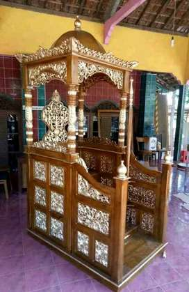 Mimbar masjid kayu jati mimbar kutbah