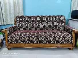3+2 Seater Sofa | Wooden Sofa