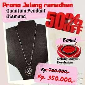 [PROMO MENJELANG RAMADHAN] Kalung Kesehatan Quantum Pendant Diamond
