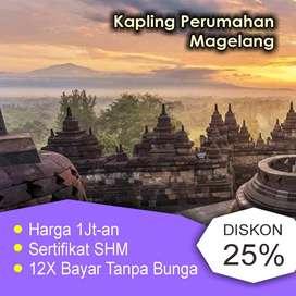 Tanah Kapling Tempuran Magelang, Dekat Candi Borobudur, 80 Jt an