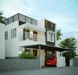 2.5 cents land with 1400 sq ft 3 bhk House