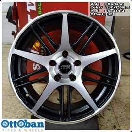 Velg Mobil CX5 BRV HRV murah AMW Carllson R17X7.5/8.5 hole 5x114.3